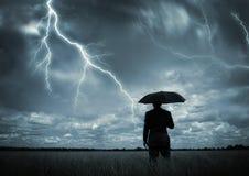 Catturato nella tempesta Fotografia Stock