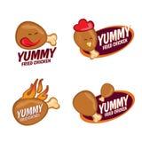 Cenografia saboroso do vetor do logotipo do frango frito Fotografia de Stock Royalty Free