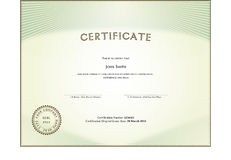 Certificate form Royalty Free Stock Photo