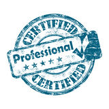 Certified professional stamp Stock Photos