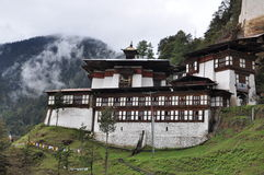 Chagri meditationmitt ovanför Thimphu Royaltyfria Foton