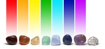 Chakra Healing Crystals Color Chart Stock Photos