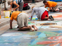 Chalk Drawings Stock Photography