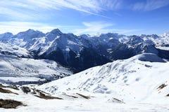 Champagny, Plagne Centre, Winter landscape in the ski resort of La Plagne, France Stock Photo