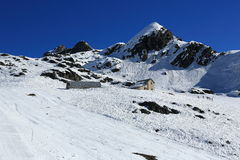 Champagny, Winter landscape in the ski resort of La Plagne, France Stock Images