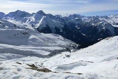 Champagny, Winter landscape in the ski resort of La Plagne, France Stock Photography
