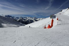 Champagny, Winter landscape in the ski resort of La Plagne, France Royalty Free Stock Image
