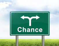 Chance road sign Royalty Free Stock Photo
