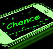 Chance On Smartphone Shows Opportunities Stock Photo