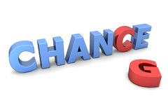 Chance to Change II - Red and Blue Royalty Free Stock Photos