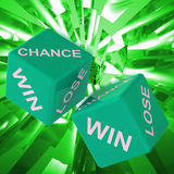 Chance, Win, Lose Dice Background Showing Gamble Losers Royalty Free Stock Image
