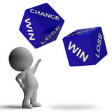 Chance Win Lose Dice Showing Betting Stock Images