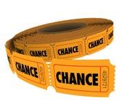 Chance Word Tickets Raffle Lottery  Stock Photos