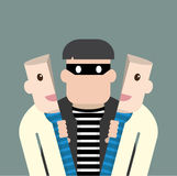 Character thief in good person Royalty Free Stock Photography