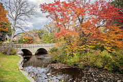 Charles River in Autumn Stock Photo