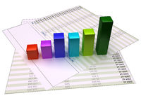 Chart bars Stock Image