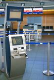 Check-in terminal Royalty Free Stock Photo