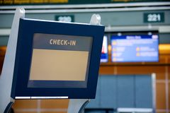 Check-in terminal Stock Photography