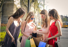 Checking purchases Royalty Free Stock Photos