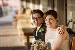 Cheeful-Homosexuell-Paare Stockbild