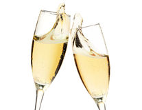 Cheers! Two champagne glasses Stock Image