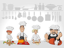 Chef team cooking Stock Images