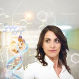 Chemist explain chemical formulas Royalty Free Stock Photography
