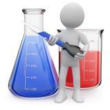 Chemist posing with test tubes Stock Photos