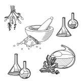 Chemist's tools set Royalty Free Stock Photography
