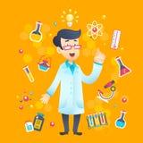 Chemist Scientist Character Stock Photo
