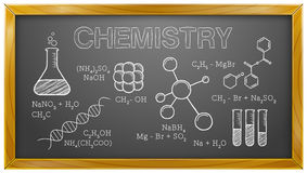 Chemistry, Science, Chemical Elements, Blackboard Stock Photography