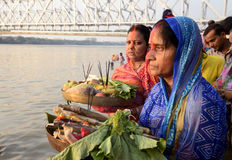 Chhath festival at Jagannath Ghat Royalty Free Stock Photography