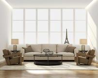 Chic classic elegant luxury living room Royalty Free Stock Image