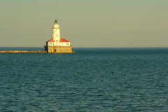 Chicago Harbor Lighthouse. Stock Photography