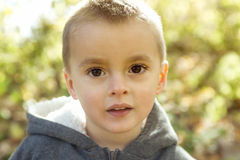 Child in autumn season Royalty Free Stock Images