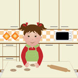 Child cooking Royalty Free Stock Image