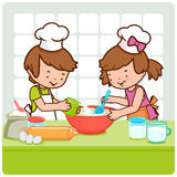 Children cooking Royalty Free Stock Photo