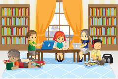 Children in library Stock Photos