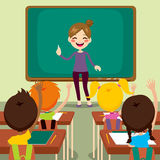 Children And Teacher On Classroom Royalty Free Stock Image