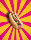 Chilli Hot Dog POP! Royalty Free Stock Photos