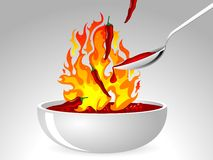 Chilli sauce Royalty Free Stock Photography