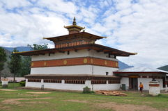ChimeLahkhang tempel i Bhutan Royaltyfri Foto