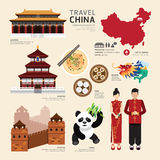 China Flat Icons Design Travel Concept.Vector Stock Photos
