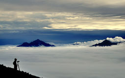 China,sea of clouds Royalty Free Stock Photos