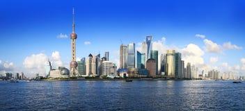 China shanghai panorama Royalty Free Stock Images