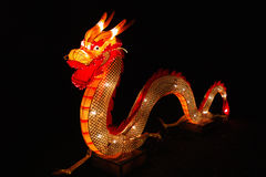 Chinese dragon in lantern festival Royalty Free Stock Image