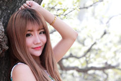 Chinese girl outdoor portrait Stock Images