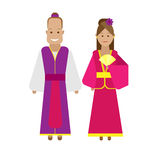 Chinese national dress Stock Image