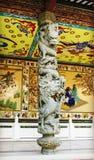 Chinese dragon on pillar china Royalty Free Stock Image