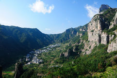 Chinese Village in Yandangshan Royalty Free Stock Photography